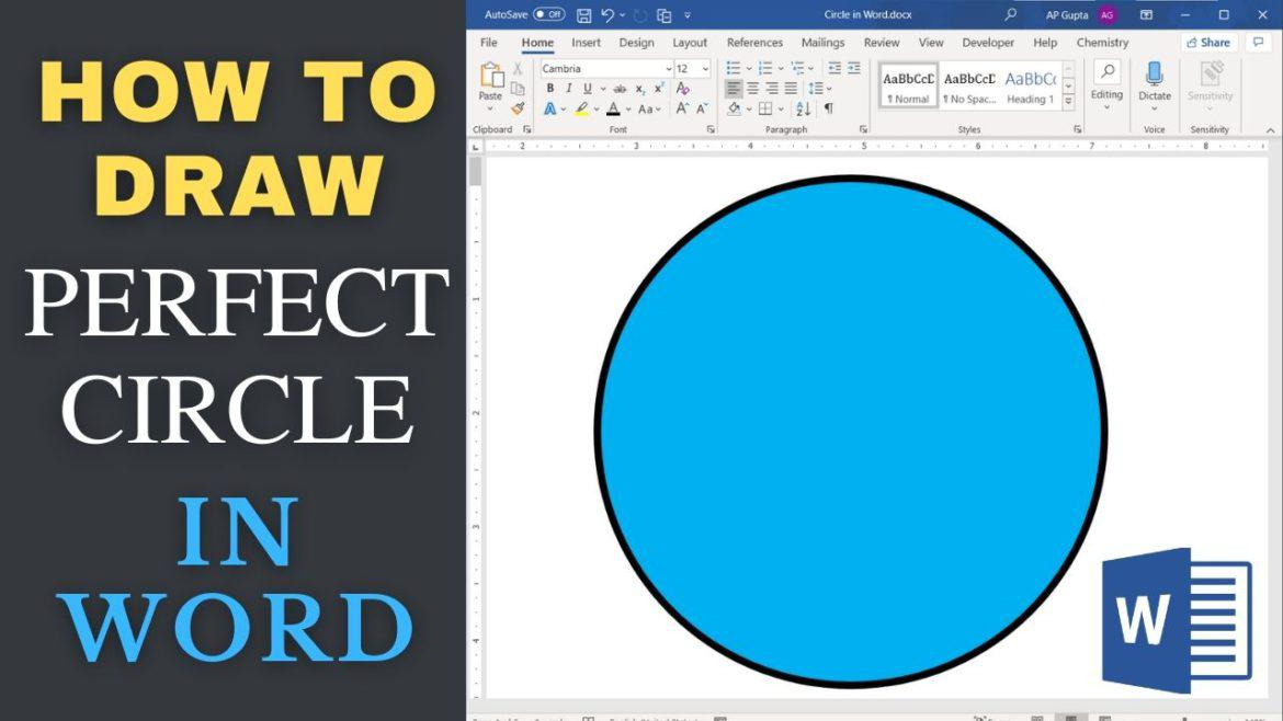How to draw circle in Word or PowerPoint?