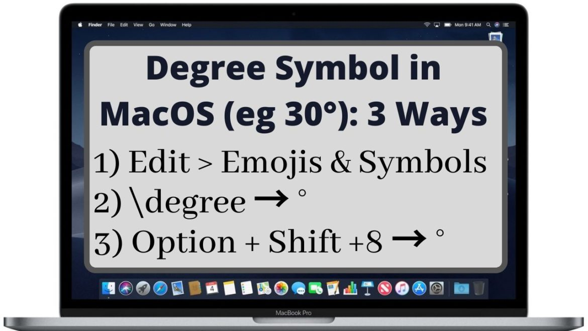 How to Type Degree Symbol in Mac