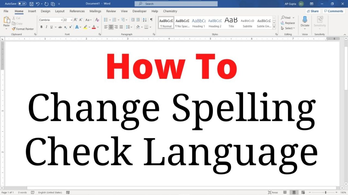 How to change spelling check language in Word (Windows & Mac)