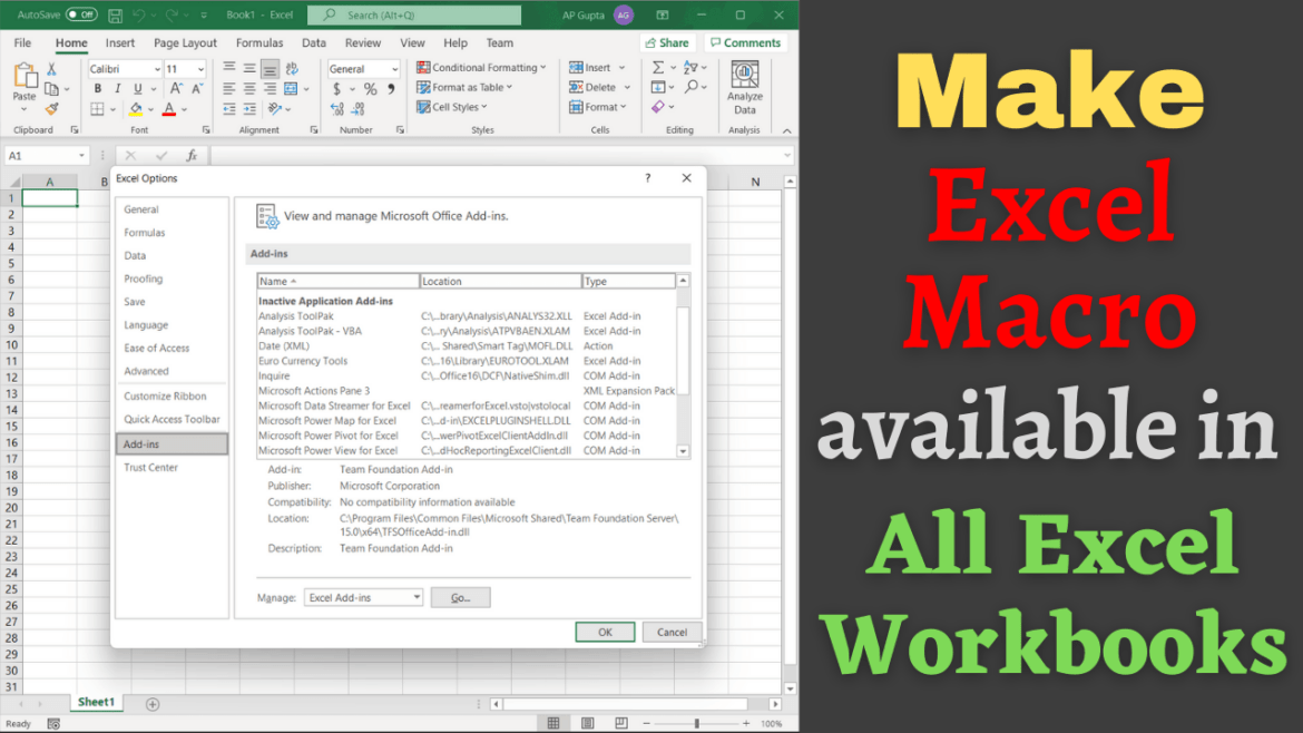 How to make a macro available in all workbooks
